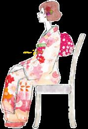 イラスト:椅子に座る