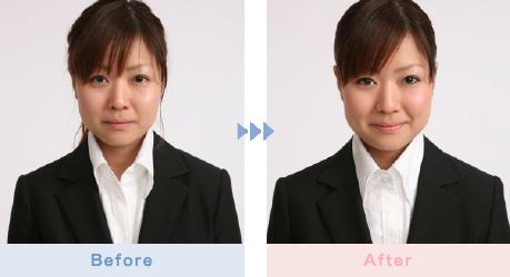 写真:before&after