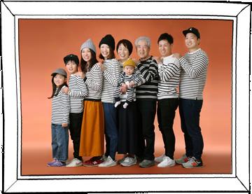 写真:家族